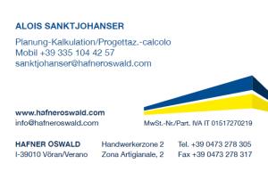 Alois Sanktjohanser - Hafner Bau | Baufirma | Meran | Schlüsselfertig | Bauunternehmen