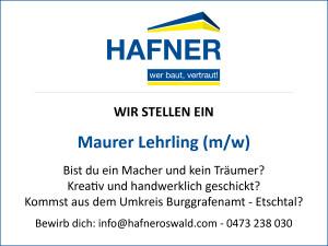2015 11 Lehrling - Hafner Bau | Baufirma | Meran | Schlüsselfertig | Bauunternehmen